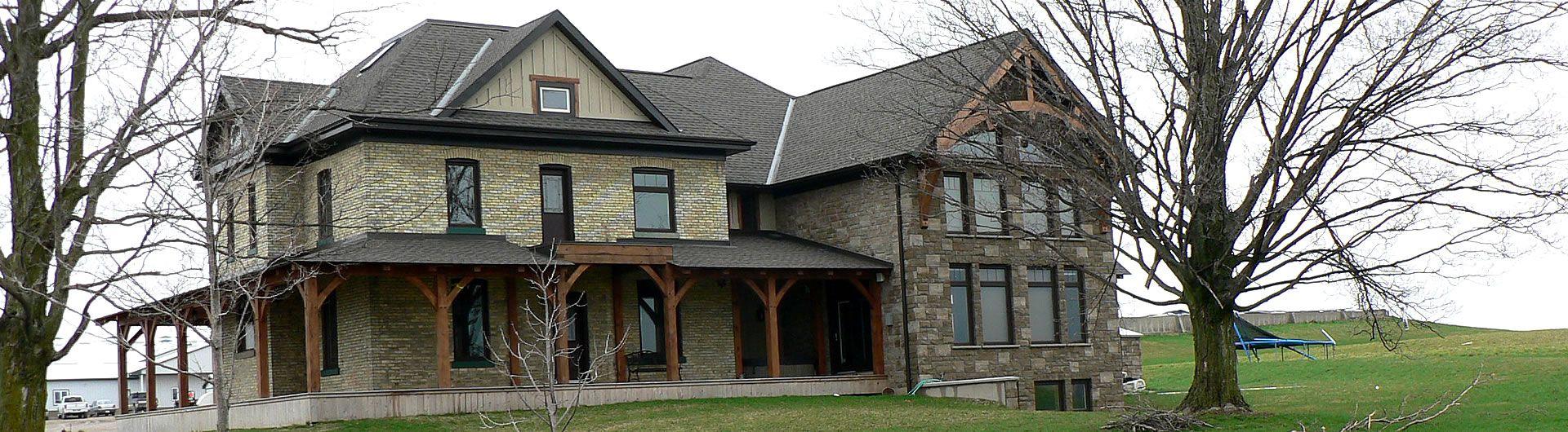 Custom addition to farm house